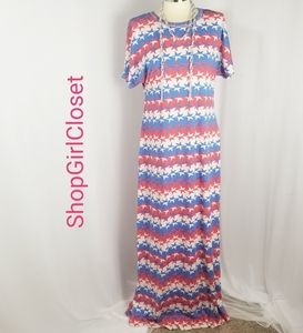 💥Just In💥Lularoe Maria..Red/White/Blue...Sz M